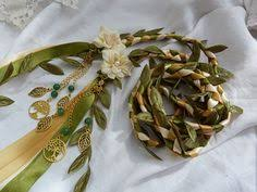 fasting cord woodland wedding fasting cord green ivory and gold satin