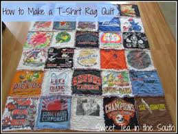 how to make a t shirt rag quilt the non quilter s quilt sweet