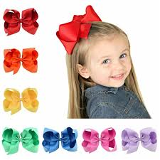 big hair bows 6 big ribbon bows with solid ribbon hair bows