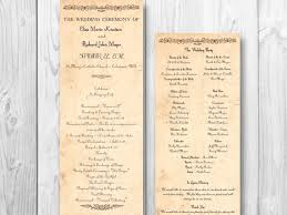 country wedding programs rustic country wedding program country order by designedwithamore