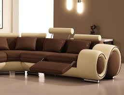 High End Leather Sectional Sofa Modern Leather Sectional Sofa With Recliners And Cup Holders