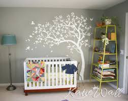 White Tree Wall Decal Nursery White Tree Wall Decal Nursery Tree Sticker Baby Room Wall