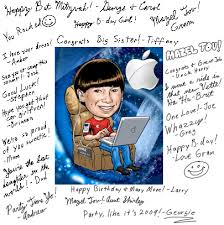birthday signing board sign in board caricatures custom from photos