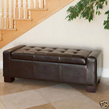 leather ottoman ebay