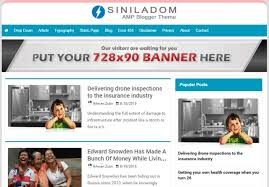 siniladom amp blogger template free mybloggerseo