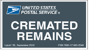 cremation remains mailing cremated remains with the united states postal service