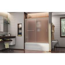 brushed nickel frosted bathtub doors bathtubs the home depot