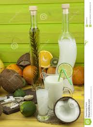 drink table bar preparing coconut refreshing drink tropical drink the table at