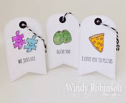 punny valentines day cards windy robinson my punny tag trio