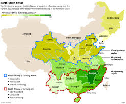Wuhan China Map by Why China U0027s Wheat Growing North Produces Individualists And Its