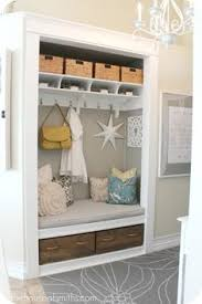 Bench By Front Door Kitchen And Mudroom Reveal Drop Zone Mud Rooms And Small Spaces