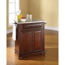 kitchen island with stainless steel top crosley alexandria stainless steel top portable kitchen island