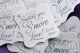 wedding tags sending you smore wedding favor tag marrygrams