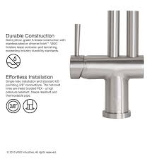 Vigo Stainless Steel Pull Out Kitchen Faucet by Vigo Dresden Pull Down Spray Kitchen Faucet Stainless Steel