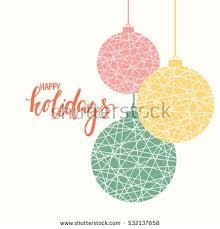 happy holidays creative calligraphy stock vector