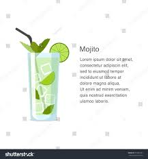 cocktail vector mojito alcohol cocktail vector illustration stock vector 353839781