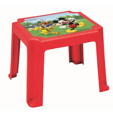 mickey mouse end table mickey mouse racers stacking resin table walmart com