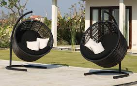 Black Outdoor Furniture by Decor Swinging Patio Chair With Patio Furniture Ideas Outdoor