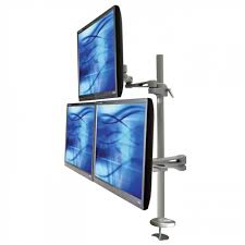Monitor Arm Desk Mount Ultraview 435 Triple Monitor Arm Desk Mount Ergomounts