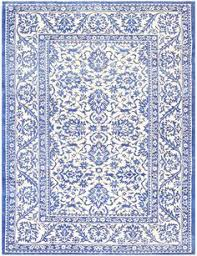charming blue and white vintage indian agra cotton rug 48300 main