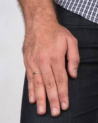 plain white gold wedding band white gold men s wedding ring 2 5mm rounded design by shiree