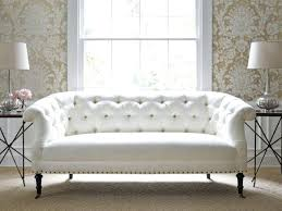 White Leather Tufted Sofa White Tufted Tufted Sofa For Colored Paint With