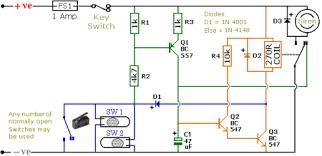 simple motorcycle alarm circuit diagram by ron j