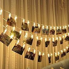 string lights with clips led photo string lights magnolora 20 photo clips battery powered