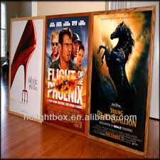 lighted movie poster frame movie billboard framed movie poster led light box lighted movie