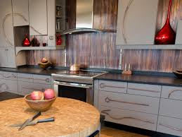 Corrugated Metal Backsplash Kitchen Rustic With Wood Cabinets Rustic - Corrugated metal backsplash
