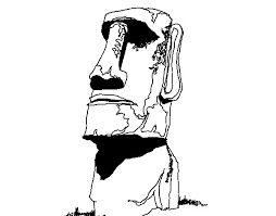 moai easter island coloring coloringcrew