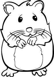 Coloriage hamster à imprimer