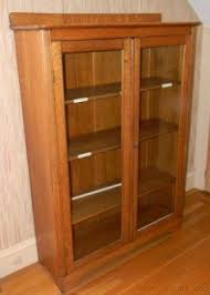 oak bookcases with doors foter