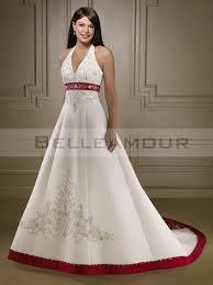robe de mari e bicolore de mariée blanche bicolore a ligne licou broderie satin
