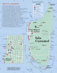 Mexico On Map by Isla Cozumel Map