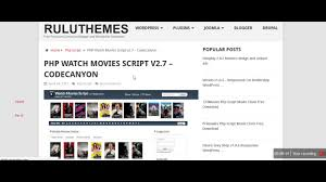 php watch movies script v2 7 codecanyon youtube