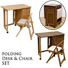 Folding Table And Chair Sets Deluce Rakuten Global Market Desk Chair Set Wood