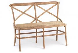 Bench Loom Leeco Lloyd Loom Somerset Benches Solid Teak Natural White