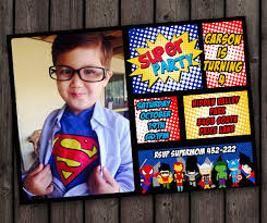 19 superhero birthday invitations u2013 free psd vector eps ai