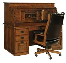 Luxury Office Desks Amish Mission Arts Crafts Roll Top Desk Solid Wood Luxury Office