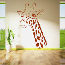 animal wall murals promotion shop for promotional animal wall children bedroom kids room art decorative giraffe head vinyl wall mural animal series wall sticker nursery room decor y 858