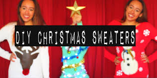 diy christmas sweaters ugly cute howtobyjordan youtube