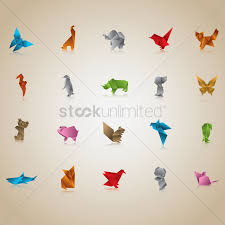 Origami Pets - free set of origami animals and birds vector image 1482084