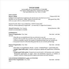 Free Samples Of Resumes by College Resume Templates