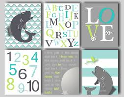 Nursery In A Bag Crib Bedding Set by Fish Nursery Fly Fishing Art I Love You To The Moon And