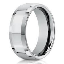 mens wedding rings white gold 10k white gold designer men s wedding ring beveled edges 6mm