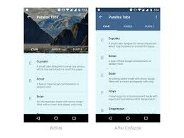 android layout collapsemode create a parallax scrolling header with tabs in android