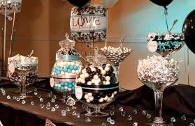 baby shower dress centerpieces black white damask turquoise bridal
