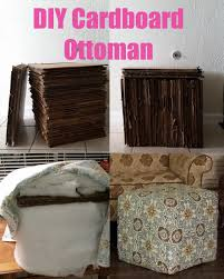 diy cardboard ottoman cheap way to make a large ottoman just