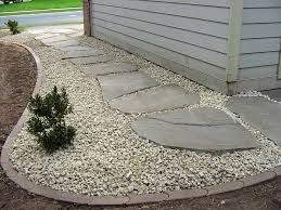 Shop Pavers U0026 Stepping Stones Cover French Drain Path Like This With Gravel Rock Set In Big
